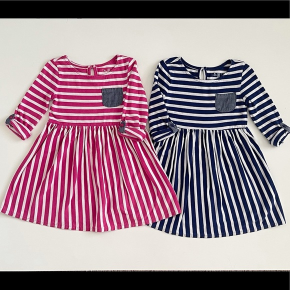 Baby Gap long sleeve striped dresses Size 3T